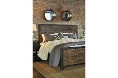 Rustic Brown Wesling Queen Panel Bed View 4