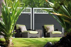Elephant - Forte tuinscherm met trellis - Composiet schutting met trellis, serie Elephant Forte