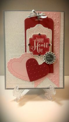 Stampin Up Tags 4 You, Hearts a Flutter, Chalk Talk, and A Round Array stamp sets