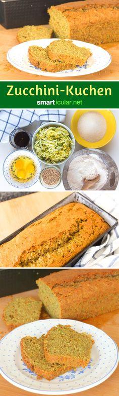 Wenn du keine Lust mehr hast auf gekochte, gebratene und gebackene Zucchini, ist dieses Rezept für süßen Zucchini-Kuchen genau das Richtige.