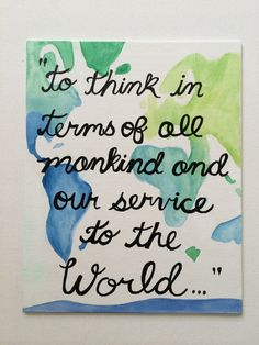 """Zeta Tau Alpha """"To Think in terms of all mankind and service to the world"""" canvas ZTA"""