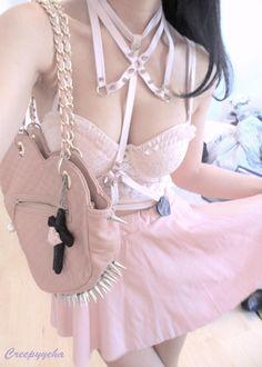 pink stud fashion