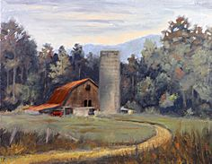 "Tommy Thompson painted ""Morning at Maggie Valley"" after traveling through North Carolina from Gatlinburg, Tennessee."