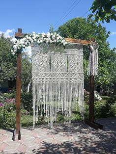 XL Macrame Ceremony Backdrop Bohemian Wedding Retro Wedding Style Backdrop Boho Wedding Decor Macrame Arch wedding arch This item is unavailable