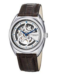 Men's Classic Delphi Tandem Brown Watch by Stuhrling Original on Gilt.com