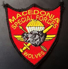 Very rare PATCH MILITARY MACEDONIA SPECIAL FORCES WOLVES !