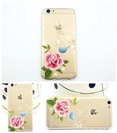 Diamond Flower case for iPhone 6, iPhone 6 TPU soft case for girls, iPhone 6 4.7'' back soft cover