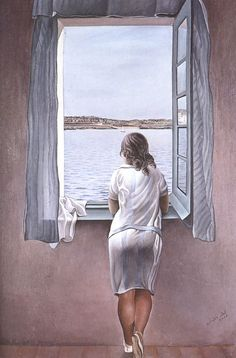 Salvador Dali Girl At The Window