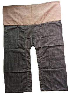 2 Tone Thai Fisherman Pants Yoga Trousers Free Size Cotton Light brown and Brown -- For more information, visit image affiliate link.