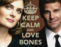 "Bones! with Emily Deschanel as Dr. Temperance ""Bones"" Brennan and David Boreanaz as Special FBI Agent Seeley Booth. I love this show!"