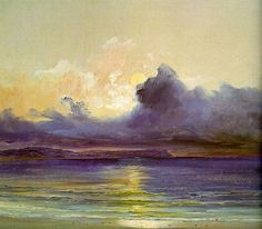 la-belle-epoche: Karl Blechen (German, 1798 - 1840) Sunset at Sea, 1820s-30s