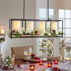 Framework Chandelier and Centerpiece is spectacular on the table or hanging up! When used as a chandelier, use with cups or Light Illusions™ LED pillars.