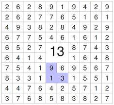 Mathe ist einfach: Zahlensuche 13
