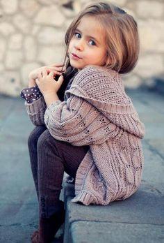 Fashionable!    She looks so adorable.