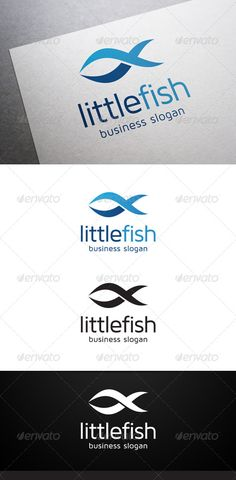 Little Fish Logo #GraphicRiver Description Little Fish Logo is a multipurpose logo. This logo that can be used by sea food companies, fish seller, etc. What's included? 100% vector AI and EPS files CMYK Fully editable – all colors and text can be modified Layered 3 color variations Font Font used: Maven Pro Don't forget to rate if you like! Created: 16September13 GraphicsFilesIncluded: VectorEPS #AIIllustrator Layered: Yes MinimumAdobeCSVersion: CS Resolution: Resizable Tags: SeaFood #blue…