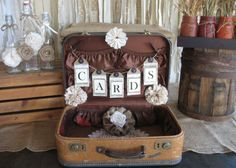 Ask you Granny for her Old Suitcase! Use an old suitcase for your wedding cards
