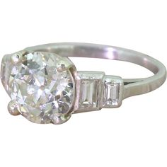 Art Deco 2.14 Carat Old Cut Diamond Engagement Ring, circa 1920 from gatsby-jewellery on RubyLUX