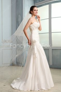 fancyflyingfox.com Offers High Quality Vintage Shallow Sweetheart Dropped Waist A-line Floor Length Beach Wedding Dresses Corset Back ,Priced At Only US$208.00 (Free Shipping)