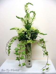 Wedding or Special Event Flowers - Food table in white and green.