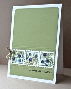 Stampin' Up ideas and supplies from Vicky at Crafting Clare's Paper Moments: Perfect Postage stamping