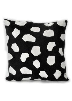 L:C The Dark Side | Rocks Jacquard Pillow by Dusen Dusen Home