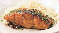 Bourbon-Glazed Salmon | Fish is rich in protein and omega-3 fatty acids, so try these great recipes and eat up!
