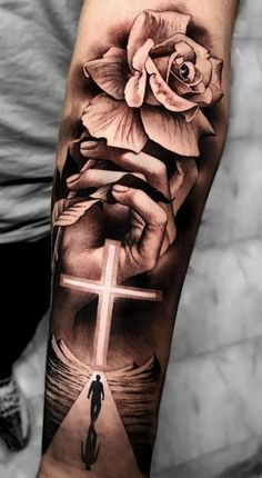 Hand Tattoos for Guys A Cross . Hand Tattoos for Guys A Cross . Celtic Tattoos for Men Hand Tattoos, Forarm Tattoos, Forearm Sleeve Tattoos, Best Sleeve Tattoos, Sleeve Tattoos For Women, Tattoo Sleeve Designs, Tattoo Designs Men, Body Art Tattoos, Jesus Tattoo Sleeve