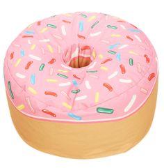 Donut Sitzsack - My future home.:D - Donut decor Bedroom Themes, Bedroom Decor, Bedroom Ideas, Girls Bedroom, Donut Cushion, Wow Words, Rocking Chair Nursery, Donut Decorations, Donut Shop