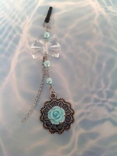 Antique Flower & Bow cell phone charm by PmBSparklesLinks on Etsy, $10.00