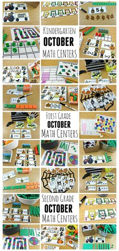 October Math Centers K, 1, and 2 - Tunstall's Teaching Tidbits