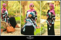 I would probably change the hijab style but gawsh love that chevron print. . .