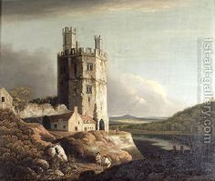 Eagle Tower, Caernarvon Castle Painting by Benjamin Barker Reproduction Well Known Poems, John Waterhouse, Mt Lady, The Lady Of Shalott, Alfred Lord Tennyson, Castle Painting, Great Poems, Pre Raphaelite, Anne Of Green Gables