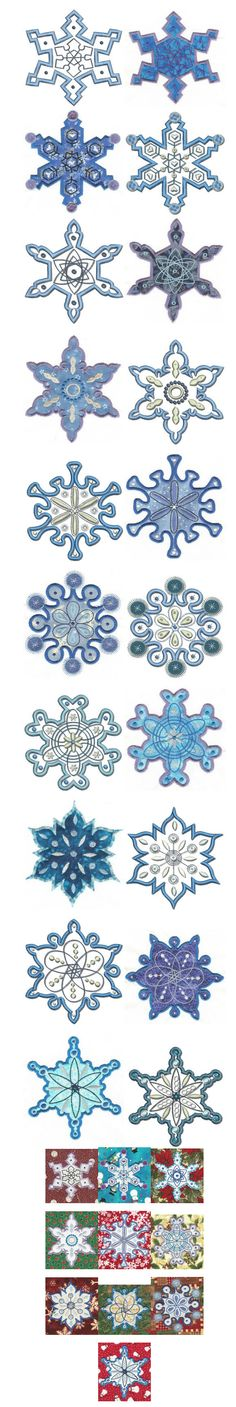 Embroidery | Free Machine Embroidery Designs | Simply Snowflakes Applique