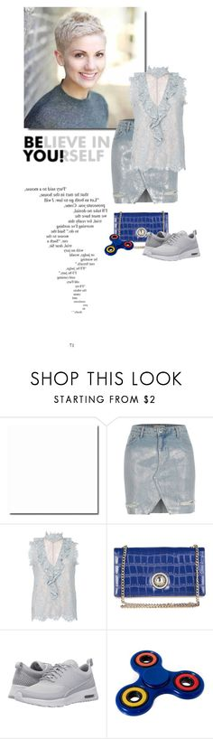 """""""Untitled #2191"""" by vinograd24 ❤ liked on Polyvore featuring River Island, Alexis, Versace and NIKE"""