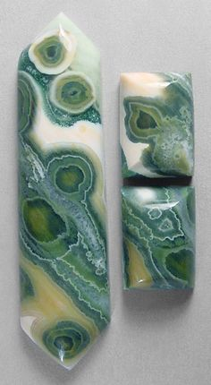 Ocean jasper cab set from Madagascar by Silverhawk Designer Gemstones