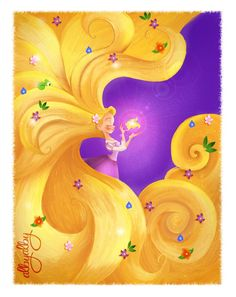 Some time ago I did a fan art of Rapunzel with the magic golden flower, although people and friends liked I had in my mind that I could do something bet. Rapunzel and the Magic Golen Flower Disney Rapunzel, Rapunzel Flynn, Disney Amor, Rapunzel And Eugene, Disney Princess Art, Princess Rapunzel, Disney Nerd, Arte Disney, Disney Fan Art