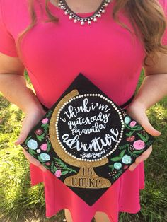 Globe graduation cap lord of the rings adventure quote