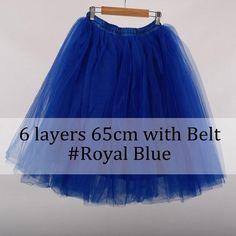 Layer Midi Skirt Tutu Tulle Women Full Skirts Vintage American Apparel Petticoat
