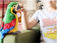 new plush simulation parrot toy plush green macaw toy cute tery parrot toy gift about 26cm