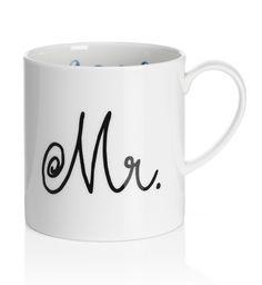 Taza con eslogan 'Mr.'