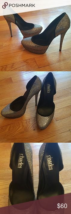 Charles David Pumps size 7 A barely worn pair of glitz pumps. Charles by Charles David. No damage and the bottoms are barely worn. In grear condition ! Charles David Shoes Heels