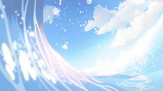 Discovered by RoyalBirdie. Find images and videos about gif, art and anime on We Heart It - the app to get lost in what you love. Light Blue Aesthetic, Aesthetic Gif, Aesthetic Backgrounds, Blue Backgrounds, Aesthetic Wallpapers, Sky Gif, Gif Animé, Animated Gif, Film Animation Japonais