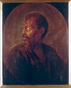 Gerrit Dou Portrait of a Man Netherlands (1635) Oil on Wood, 22.5 x 18 cm. KØBENHAVN, Statens Museum for Kunst.