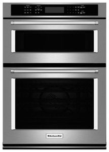 Even-Heat True Convection Oven/ Microwave Convection Cooking In Upper Oven/ Temperature Probe/ Cu. Lower Oven Capacity/ SatinGlide Roll-Out Extension Rack/ Stainless Steel Finish Built In Double Ovens, Built In Microwave, Microwave Oven, Microwave Combination Oven, Gas Stove Top, Convection Cooking, Kitchen Appliances, Small Appliances, Kitchen Cabinets