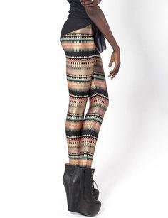 Punk Digital Printed Assorted Color Capri Leggings
