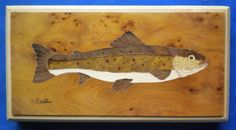 brown trout inlaid with burr yew, box stremmer