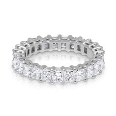 fc37dcdb1 3.71ctw Princess Cut Diamond Eternity Ring in Platinum Nontraditional  Engagement Rings, Best Engagement Rings
