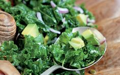raw kale salad from The Heal Your Gut Cookbook