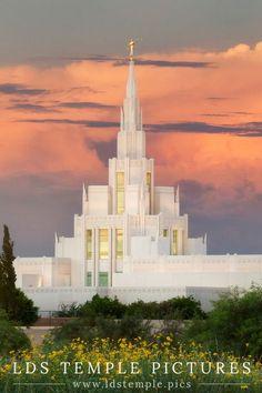 Phoenix Arizona Temple Sunset Northeast