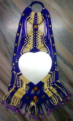 Macrame decorative mirror